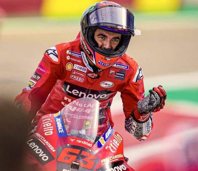 F Bagnaia Pole Position Motogp Aragon 2021