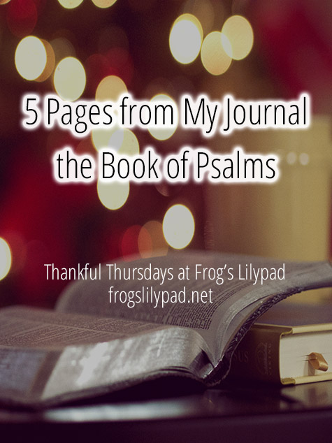 5 Pages from My Journal - The Book of Psalms