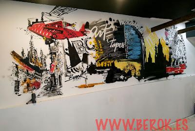 Decoración murales restaurantes y bares