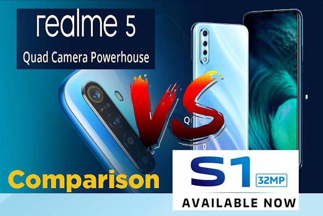 Vivo S1 Vs Realme 5 Pro Comparison : Display, Finger print Sensor, RAM, Internal Storage, Camera Difference , Processor, Battery