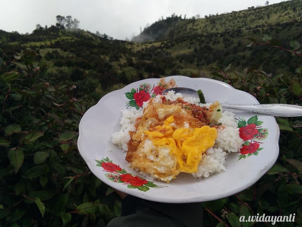 Nasi Pecel Mbok Yem Gunung Lawu