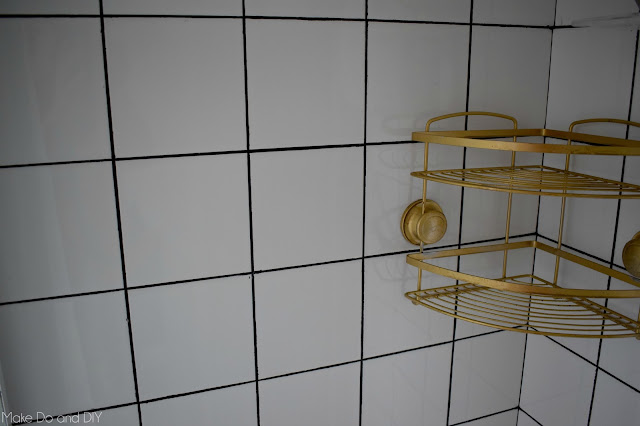 painted shower grout diy