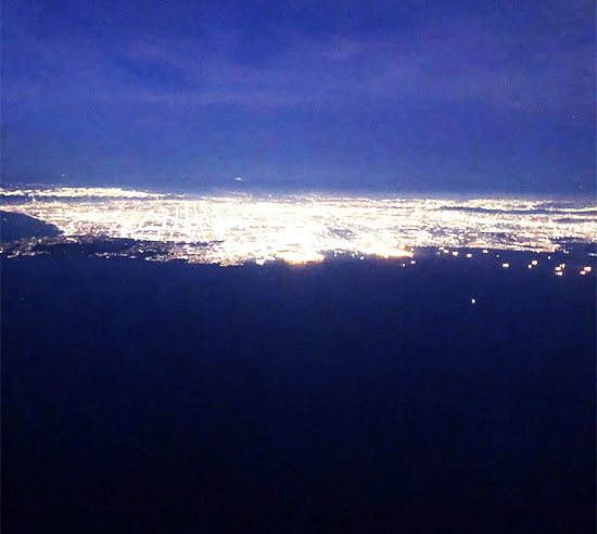 Yep, there are a lot of city lights above SNA at sundown (Source: Palmia Observatory)