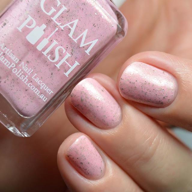 pink crelly shimmer nail polish