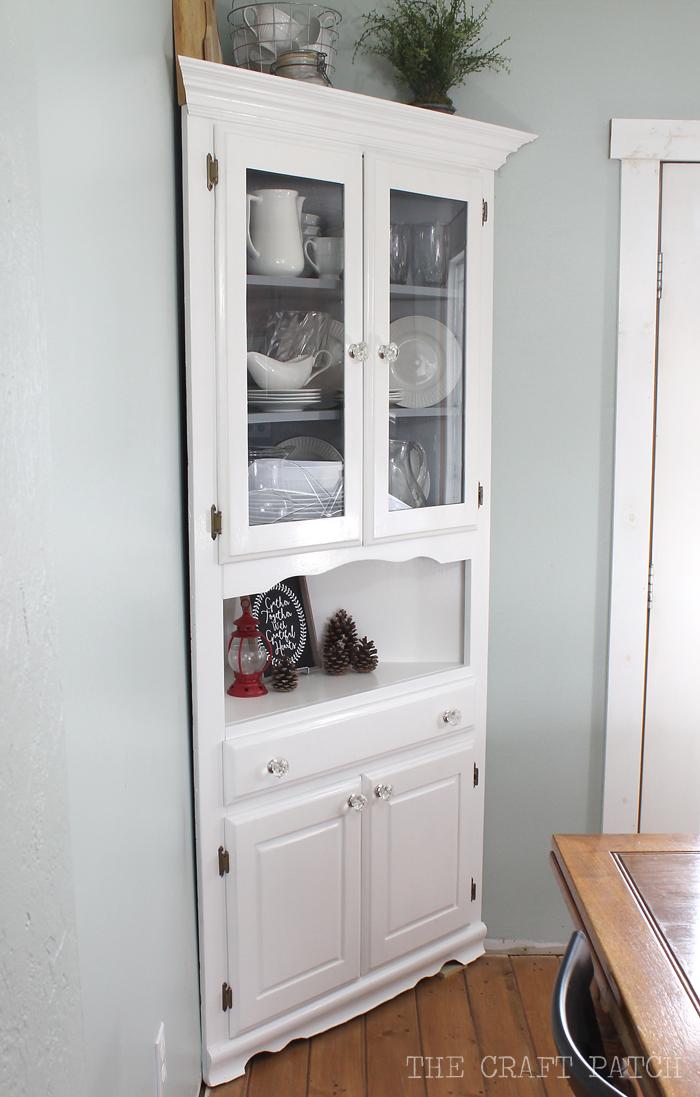 Corner Hutch Furniture Makeover  thecraftpatchblogcom