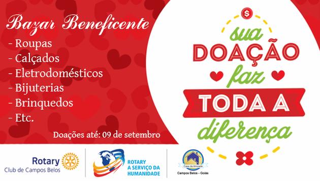 64f0167886a Faça uma doação para o Bazar Beneficente da Casa da Amizade de Campos  Belos GO