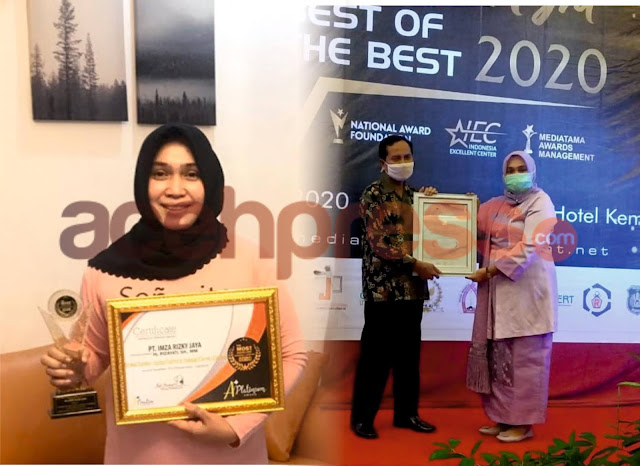 Hj.Rizayati Wanita Inspiratif akan Terima Lagi  Penghargaan Terbaik Nasional Tahun 2021