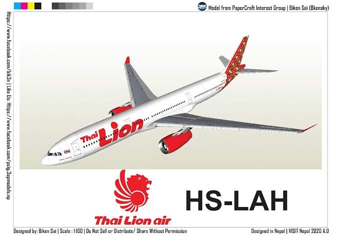 PCIG A330-343 Thai Lion Air HS-LAH