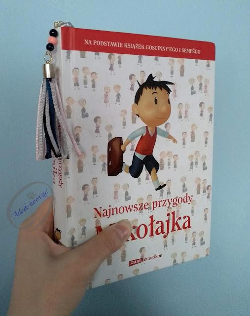 Adzik tworzy - pleciona zakładka DIY do książki