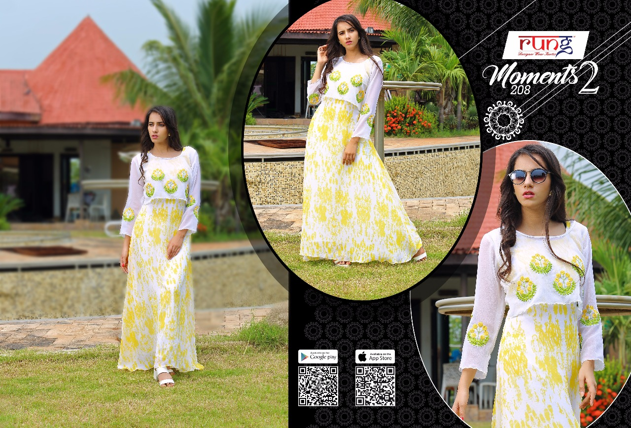MOMENTS VOL 2-New Arrival Designer Georgette Rayon Silk Kurti