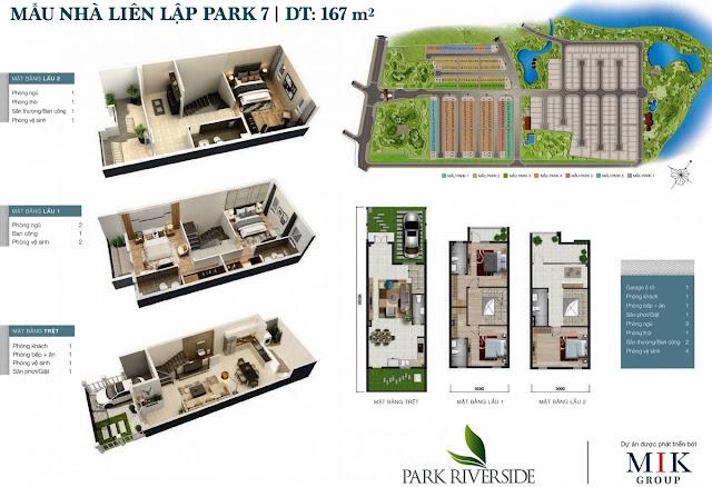 Mẫu Biệt thự - Nhà phố LL07 Park River Side quận 9 HCM