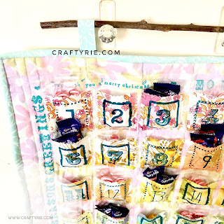 A fun quirky vintage style advent calendar made by CraftyRie.