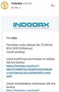 Cara Tarik Rupiah di Aplikasi Indodax