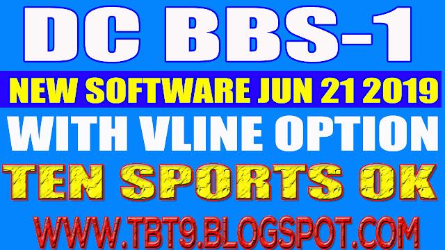 DC BBS-1 HD RECEIVER NEW SOFTWARE POWERVU TEN SPORTS OK BY USB 21 JUNE 2019
