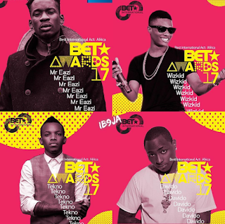 Nigeria star Singers Wizkid, Davido, Tekno & Mr. Eazi, go head to head for 2017 BET Awards