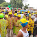 LIVE: Gridlock in Bariga as Council Chairman Alabi  Kolade Storm APC mega rally ahead of L.G Poll