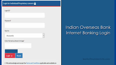Indian Overseas Bank Balance Check by Net banking