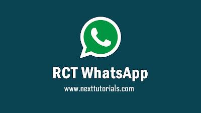 RCT WhatsApp v8.86 Apk Latest Version Android,Install Aplikasi RCT WA Unclone Terbaik 2021,tema whatsapp keren 2021,download wa mod anti banned