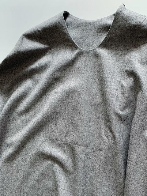 NO CONTROL AIR【ノーコントロールエアー】2/95 Super 140's ウールサージプルオーバーシャツ◆八十八/丸亀香川県・eighty88eight/新居浜愛媛県エイティエイト
