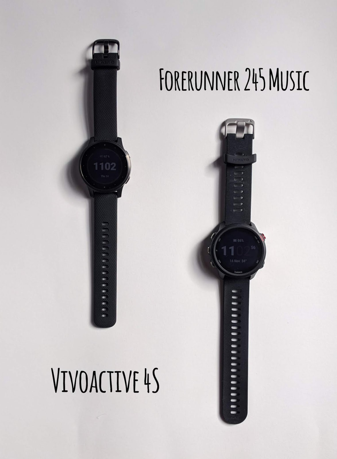 garmin forerunner 245 music vs. vivoactive 4s
