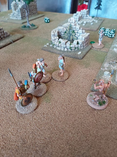 The Satyr leader is killed by an underhand Athenian trick!
