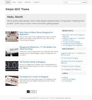 Simple SEO, Template Blogger Gratis Super Simpel dan Responsive