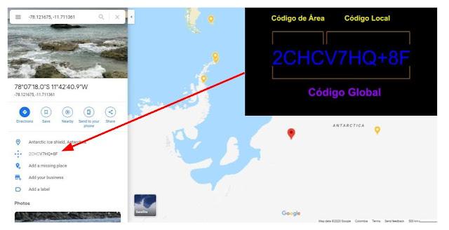entender codigo plus en google maps