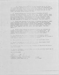UFO Sighting Over Missile Silo in Nebraska (Pg 2) 8-26-1965