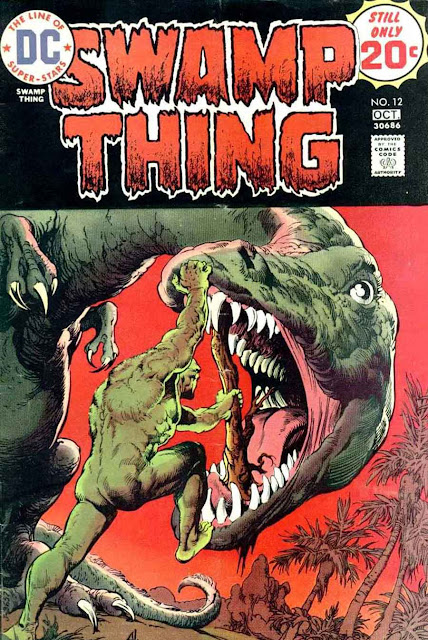 Swamp Thing v1 #12 1970s bronze age dc comic book cover art by Nestor Redondo