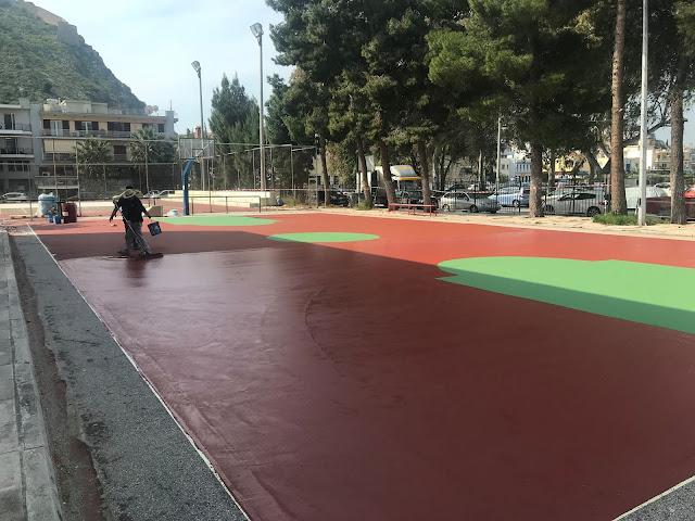 Ανακαίνιση στα εξωτερικά γήπεδα του Ναυπλίου
