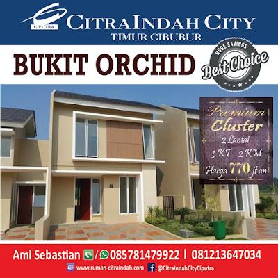 Masih ada Rumah 2 Lantai Murah ORCHID 59/160 Citra Indah City