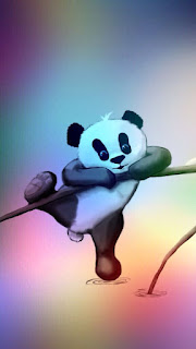 Wallpaper wa panda berwarna
