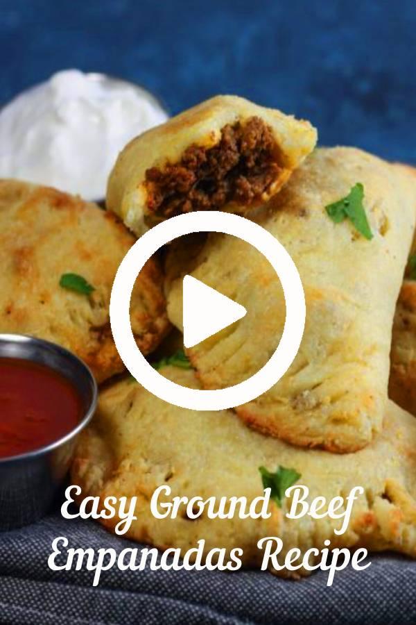 Easy Ground Beef Empanadas Recipe | #keto and #lowcarb recipe for empanadas! #beef #groundbeef