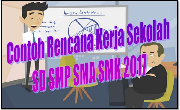 Contoh Rencana Kerja Sekolah SD SMP SMA SMK 2017