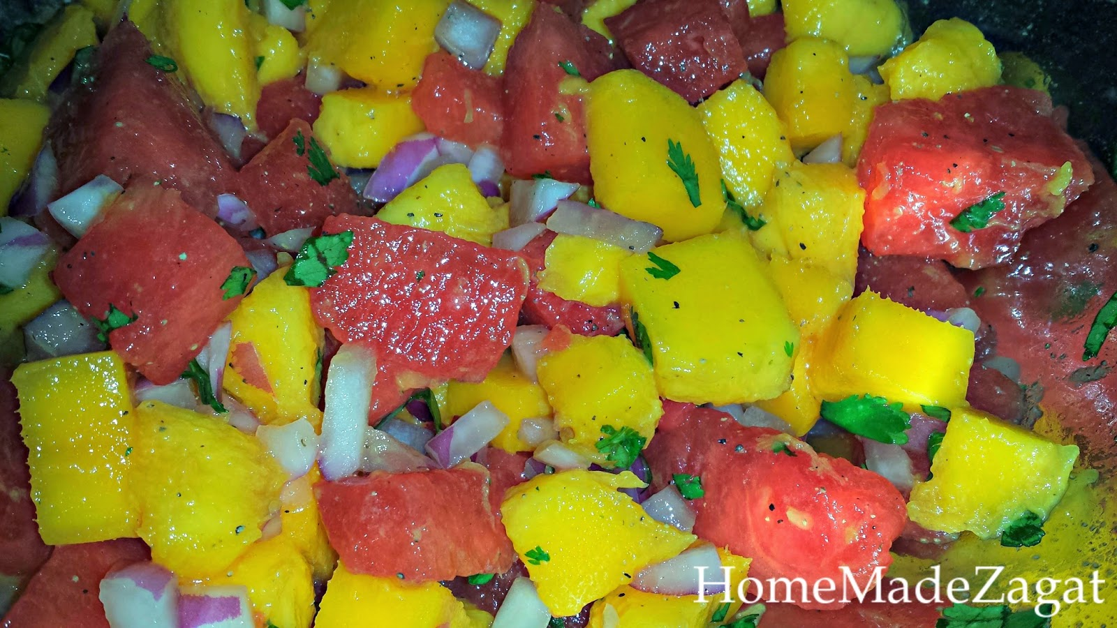 Mango and Watermelon Pico de Gallo