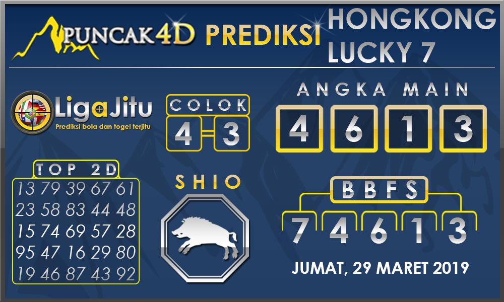 PREDIKSI TOGEL HONGKONG LUCKY7 PUNCAK4D 29 MARET 2019