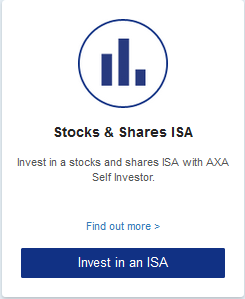 Stocks & Shares ISA  Invest in a stocks and shares ISA with AXA Self Investor.