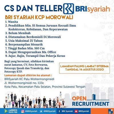 CS dan Teller Bank BRI Syariah