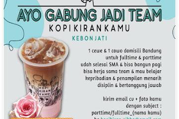 Lowongan Kerja Bandung Team Kopikiran Kamu Bandung