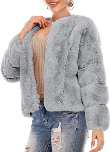 Women's Grey Faux Fur Coats