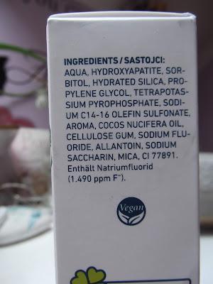 Dontodent Zubná pasta Sensitiv Coconut zloženie