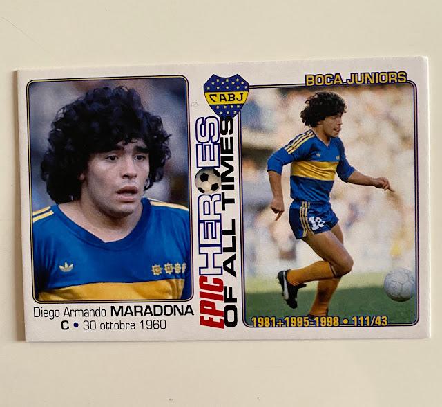 figurina maradona Boca Juniors