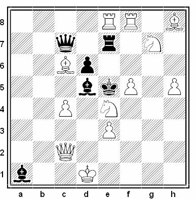 Problema de mate en 2 compuesto por Michael Barth y Daniel Papack (3º Premio, Schach Aktiv 2011)