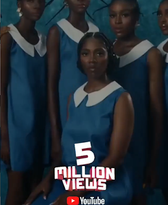 "Tiwa Savage Celebrates As ""49-99"" Hit 5 Million Views On Youtube"