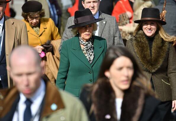 The Duchess of Cornwall, Princess Anne, Princess Royal. Zara Tindall wore Laura Green London Antonia angora wool coat