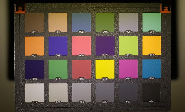 Karta kolorów oświetlona lampeczką Lumintop C01