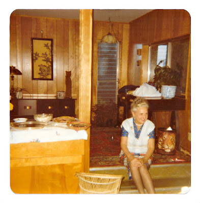Mary Sheveloff aka Moora in June 1979 at 19 Ramona Avenue in Piedmont, California