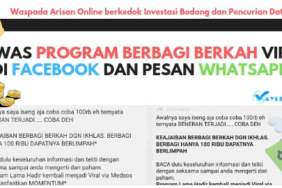 Awas Program Berbagi Berkah Viral Di Facebook dan pesan Whatsapps. Waspada Pencurian Data Pribadi