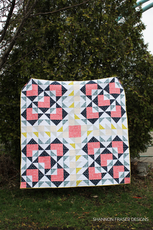 Blueberry Park Double Windmill Quilt in the Wild | Shannon Fraser Designs #quiltsinthewild #modernquiltpattern