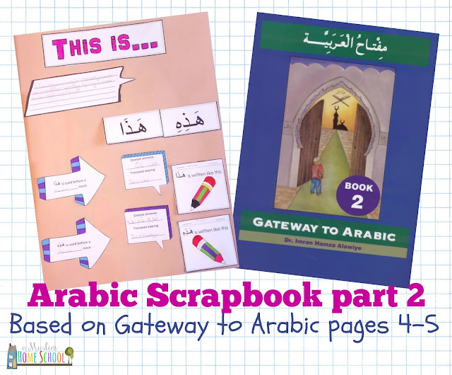Gateway to Arabic Scrapbook printable from a Muslim Home School